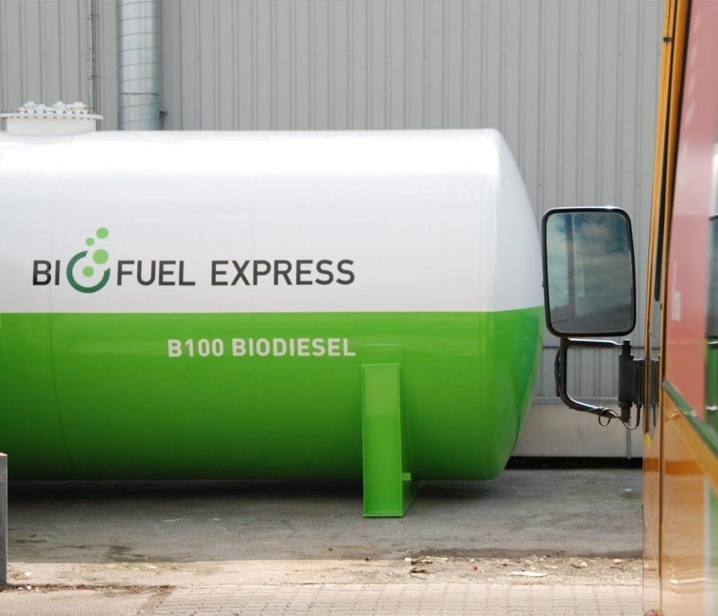 B100 biodiesel fossilfri bustransport