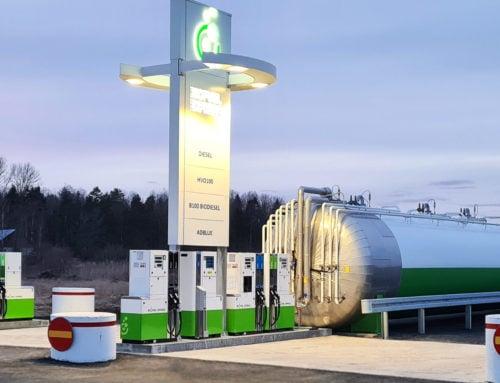 En ny Biofuel Express-stasjon med fossilfrie produkter åpner i Arboga i Sverige