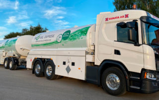 Biofuel Express truck wrapping