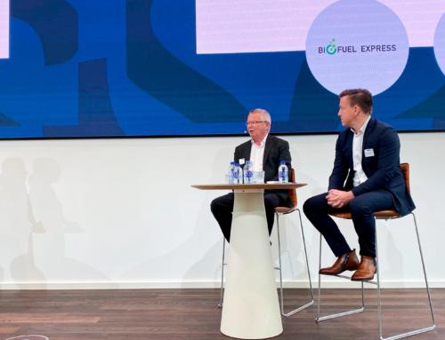 Biofuel Express framträder på scenen för att fira Danske Banks hundrafemtioårsjubileum