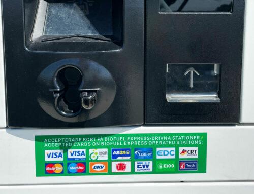 Biofuel Express-stationer accepterar nu också stationskort från YX-kunder
