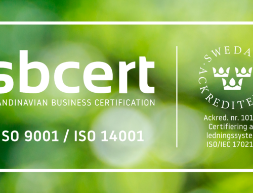 Biofuel Express is recertified within quality management and environmental performance