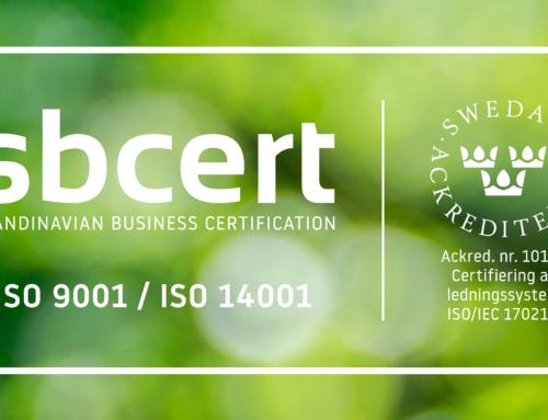 Biofuel Express är certifierat på nytt inom kvalitetsledning och miljöprestanda