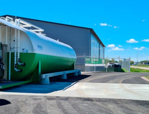 En ny Biofuel Express-lastebilstasjon åpner i Linköping i Sverige