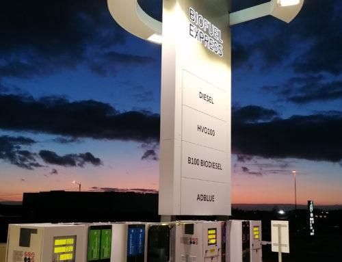 Nya Biofuel Express lastbilsstation med gröna och fossilfria produkter öppnar i Åstorp