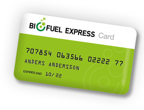 Biofuel Express Card. 1 fuel card. 100+ stations.