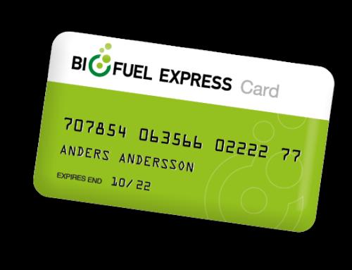 Biofuel Express Card. 1 tankkort. 100+ stationer.